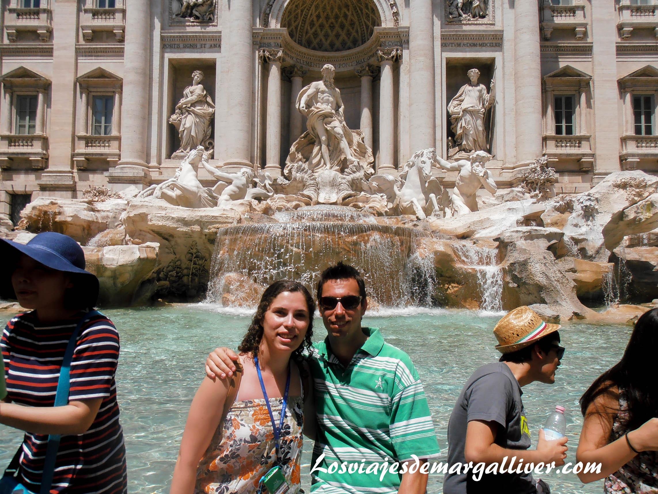 En la fontana di trevi de Roma, 7 viajes románticos para San Valentín - Los viajes de Margalliver